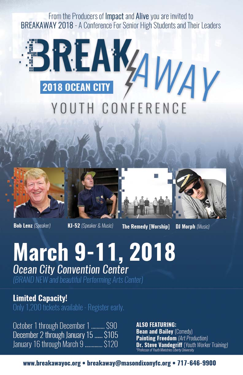Breakaway Youth Conference Poster